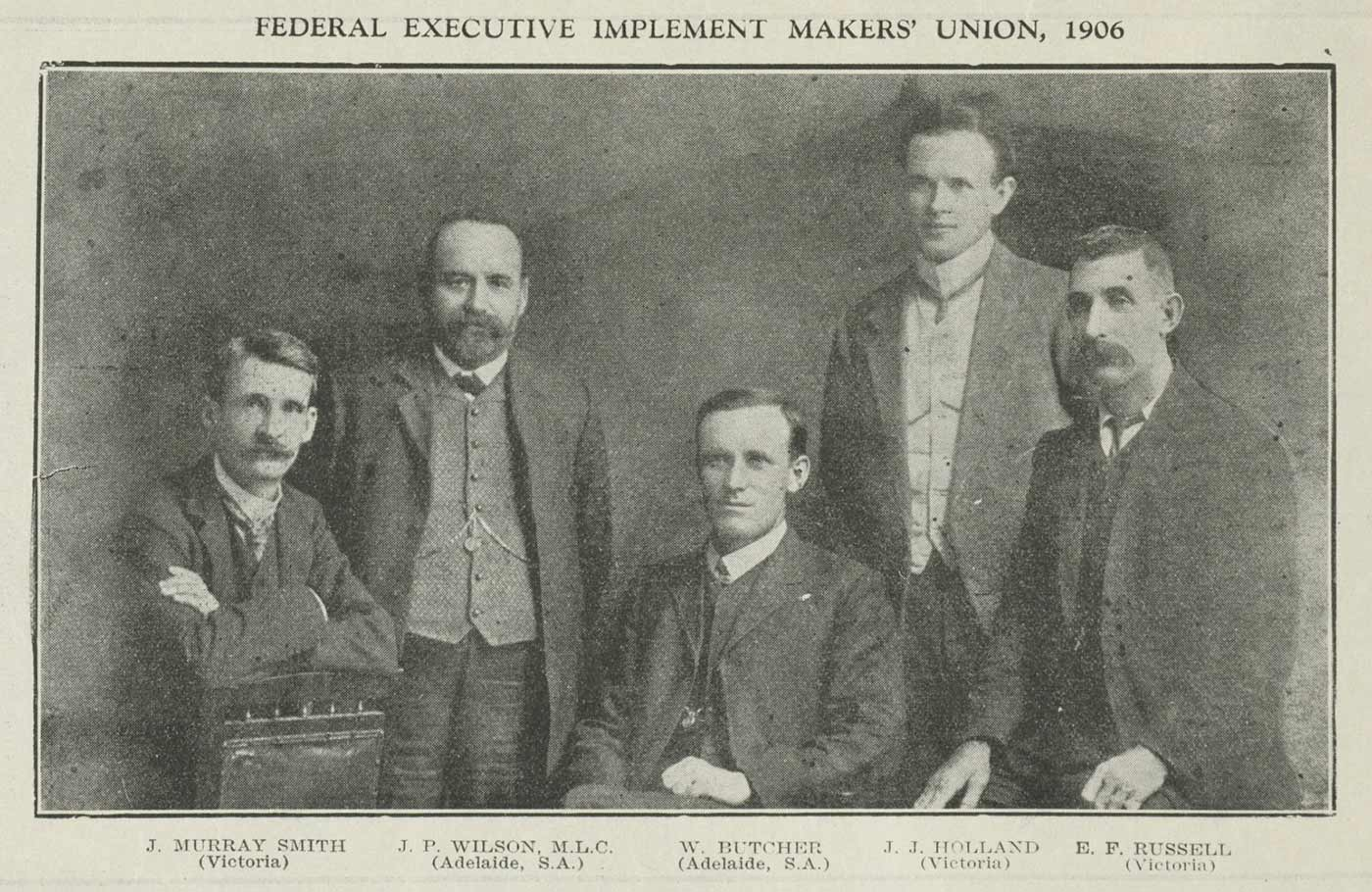 Group portrait of men.